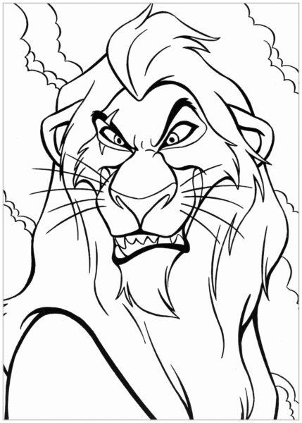 Tranh tô màu con sư tử đẹp nhất cho bé tập tô (7)