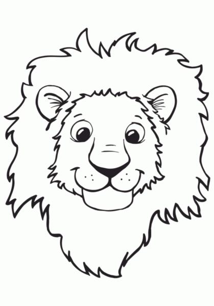 Tranh tô màu con sư tử đẹp nhất cho bé tập tô (8)