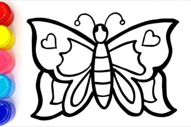Tranh tô màu côn trùng đẹp nhất