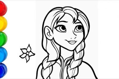 Tranh tô màu công chúa Anna đẹp nhất