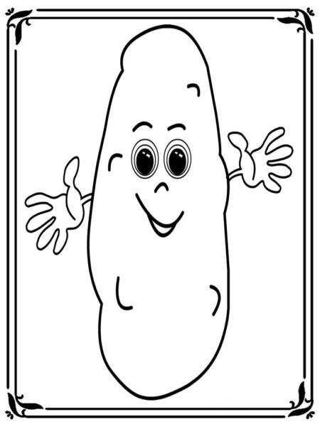 Tranh tô màu củ khoai lang đơn giản cho bé tập tô (10)