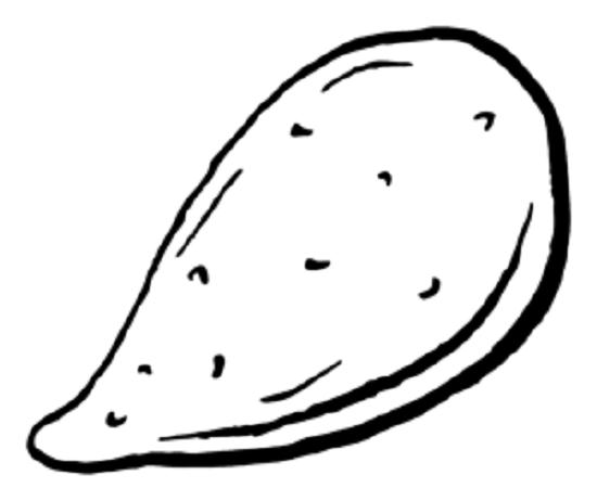 Tranh tô màu củ khoai lang đơn giản cho bé tập tô (24)