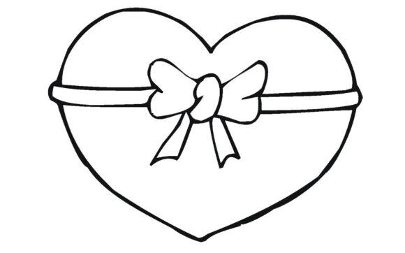 Tổng hợp các bức tranh tô màu hình trái tim đẹp nh