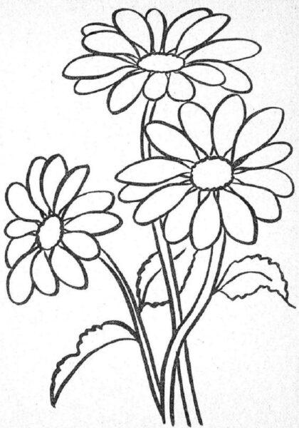 Tranh tô màu hoa hướng dương đẹp nhất cho bé tập tô (37)