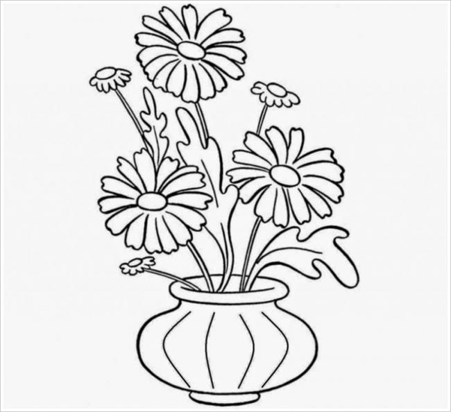 Tranh tô màu hoa hướng dương đẹp nhất cho bé tập tô (40)