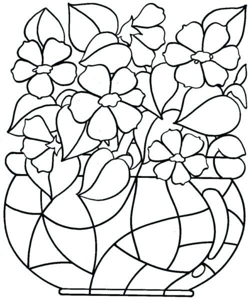 Tranh tô màu hoa mai đẹp cho bé tập tô (14)