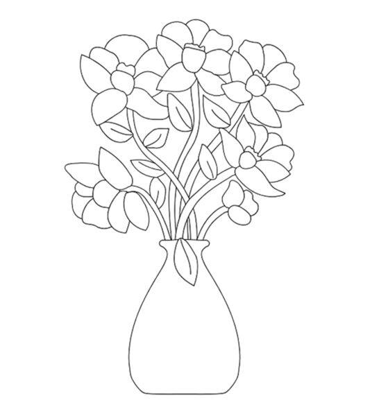 Tranh tô màu hoa mai đẹp cho bé tập tô (15)