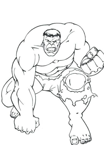 Tranh tô màu Hulk