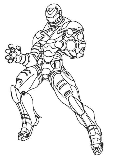 Tranh tô màu Iron Man