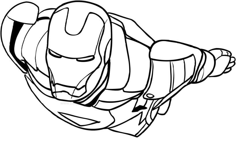 Tranh tô màu Iron Man đẹp nhất cho bé tập tô (26)