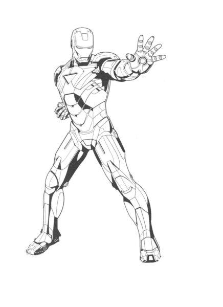 Tranh tô màu Iron Man đẹp nhất cho bé tập tô (27)