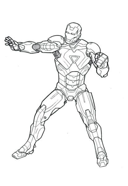 Tranh tô màu Iron Man đẹp nhất cho bé tập tô (28)