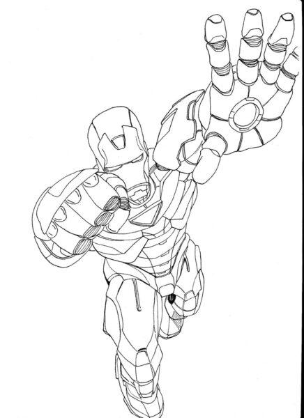 Tranh tô màu Iron Man đẹp nhất cho bé tập tô (29)