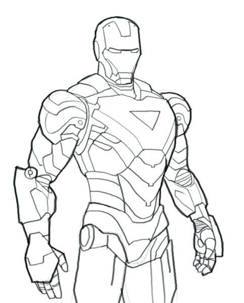 Tranh tô màu Iron Man đẹp nhất cho bé tập tô (35)