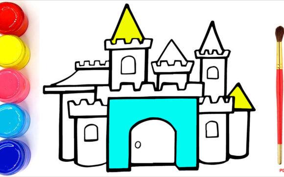 Tranh tô màu lâu đài đẹp nhất