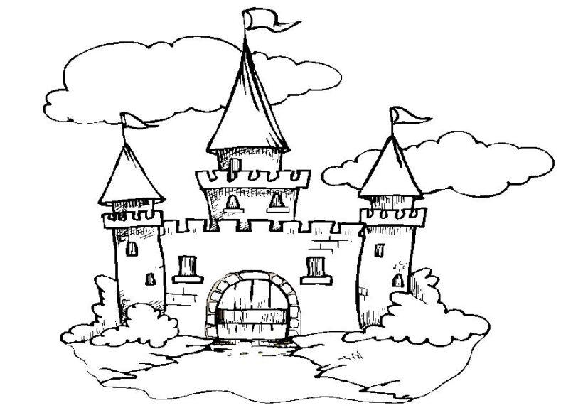 Tranh tô màu lâu đài đẹp nhất cho bé tập tô (32)