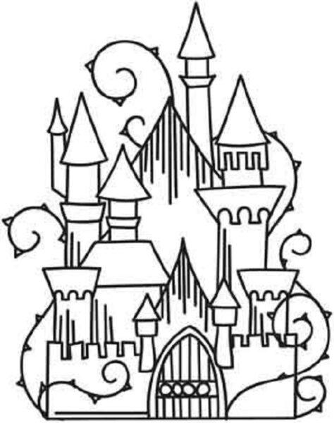 Tranh tô màu lâu đài đẹp nhất cho bé tập tô (35)