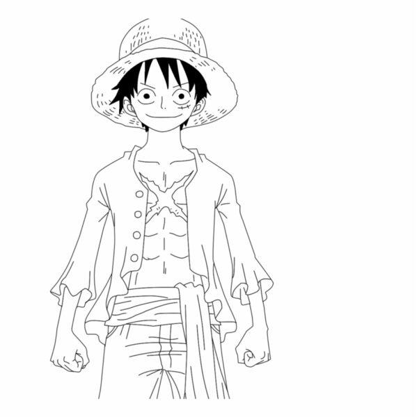 Tranh tô màu Luffy