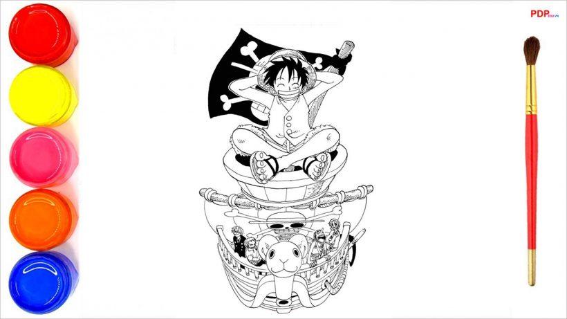 Tranh tô màu One Piece đẹp nhất