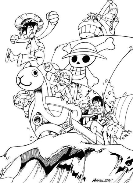Tranh tô màu One Piece đẹp nhất cho bé tập tô (12)