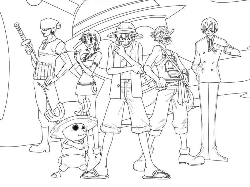 Tranh tô màu One Piece đẹp nhất cho bé tập tô (14)