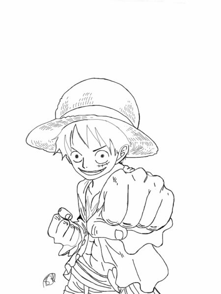 Tranh tô màu One Piece đẹp nhất cho bé tập tô (15)