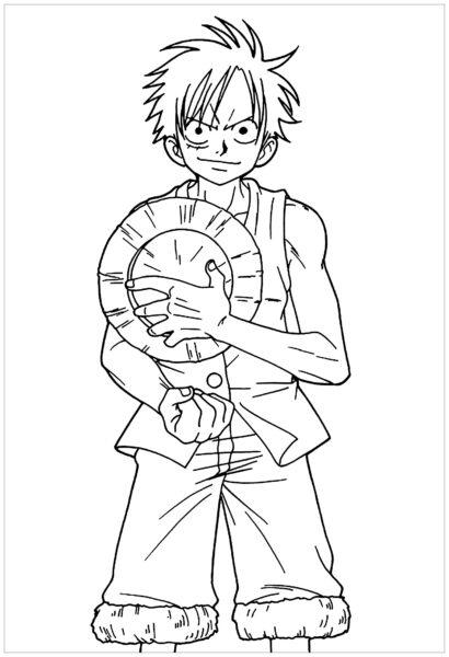 Tranh tô màu One Piece Luffy