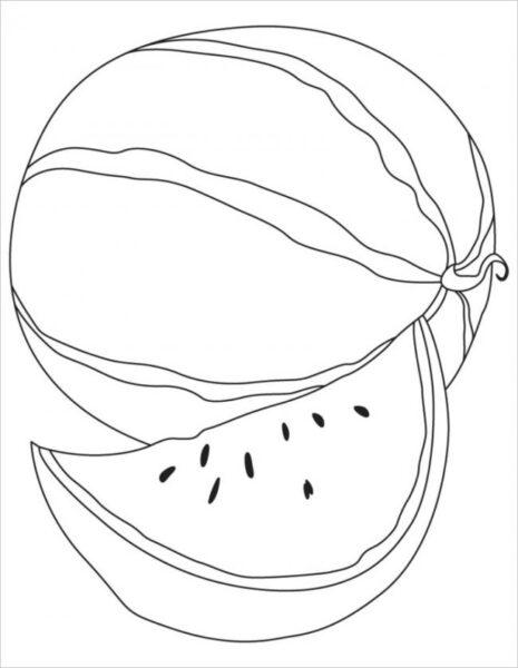 Tranh tô mau quả dưa hấu cho be tập tô (23)