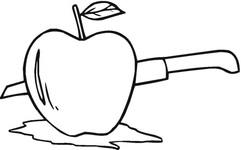 Tranh tô màu quả táo đẹp nhất cho bé tập tô (45)