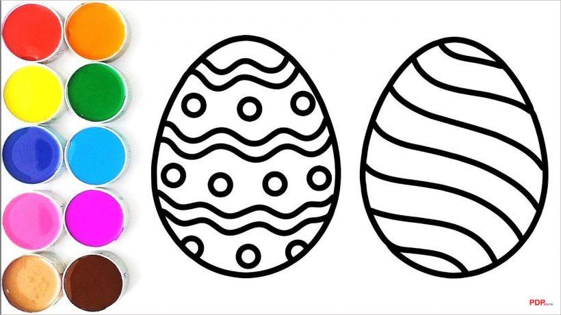 Tranh tô màu quả trứng đẹp nhất
