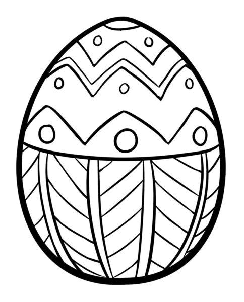 Tranh tô màu quả trứng đơn giản cho bé tập tô (28)