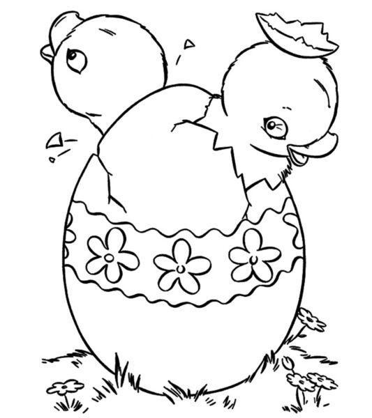 Tranh tô màu quả trứng đơn giản cho bé tập tô (30)