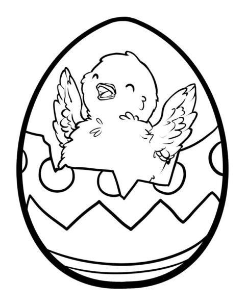 Tranh tô màu quả trứng đơn giản cho bé tập tô (34)