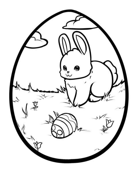 Tranh tô màu quả trứng đơn giản cho bé tập tô (35)