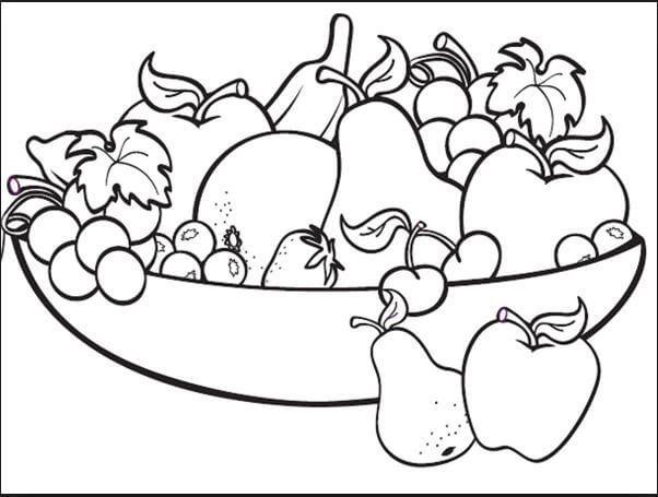 Tranh tô màu rau củ quả đẹp nhất cho bé tập tô (29)