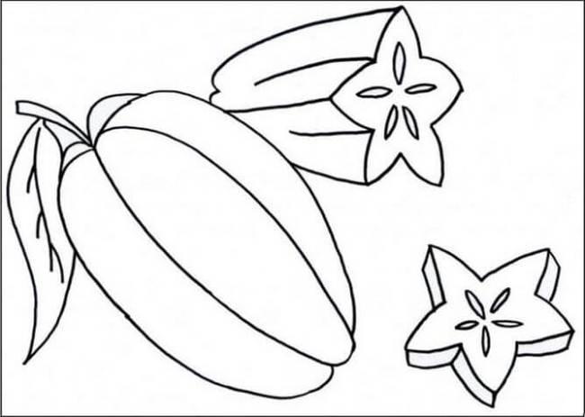 Tranh tô màu rau củ quả đẹp nhất cho bé tập tô (30)