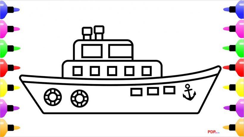 Tranh tô màu tàu thuỷ đẹp nhất