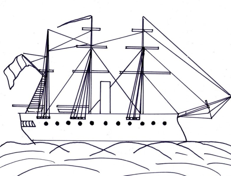 Tranh tô màu tàu thuỷ đẹp nhất cho bé tập tô (21)