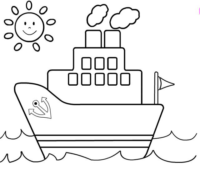 Tranh tô màu thuyền buồm cho bé tập tô (1)