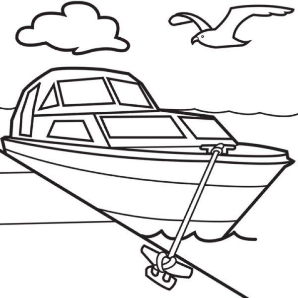 Tranh tô màu thuyền buồm cho bé tập tô (2)