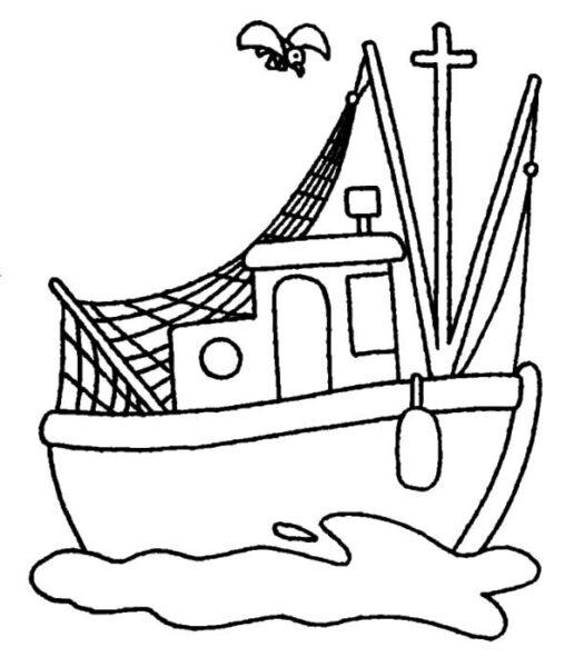 Tranh tô màu thuyền buồm cho bé tập tô (3)