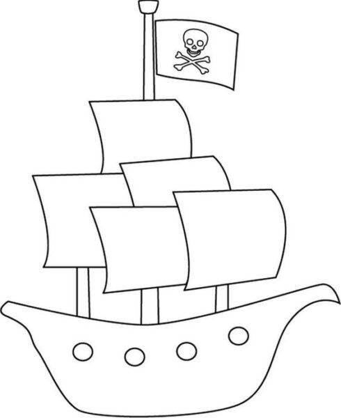 Tranh tô màu thuyền buồm cho bé tập tô (4)