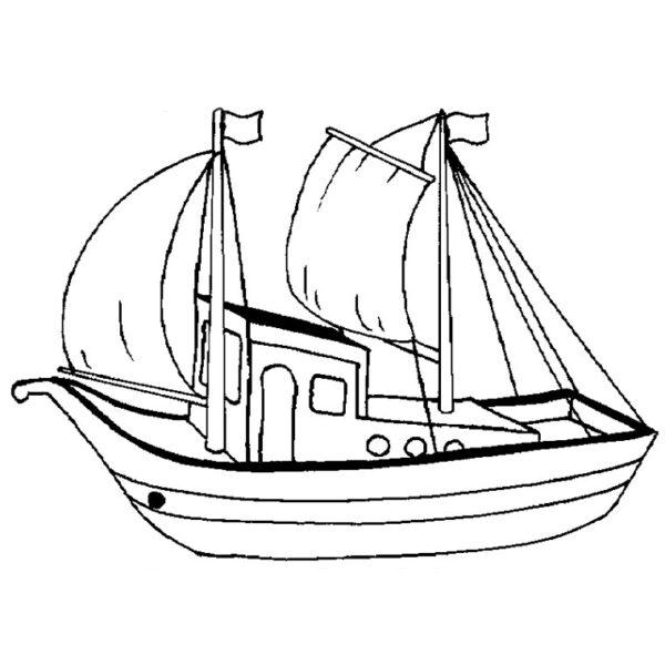 Tranh tô màu thuyền buồm đẹp nhất cho bé tập tô (24)