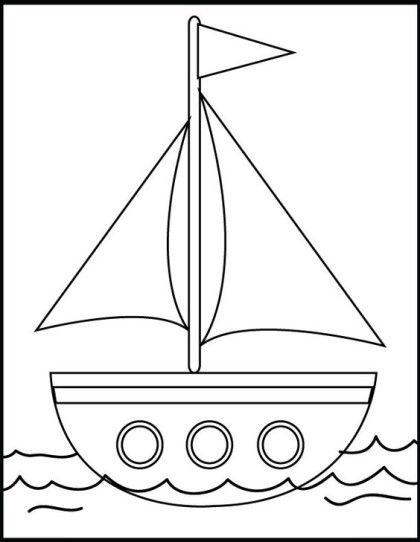 Tranh tô màu thuyền buồm đẹp nhất cho bé tập tô (27)