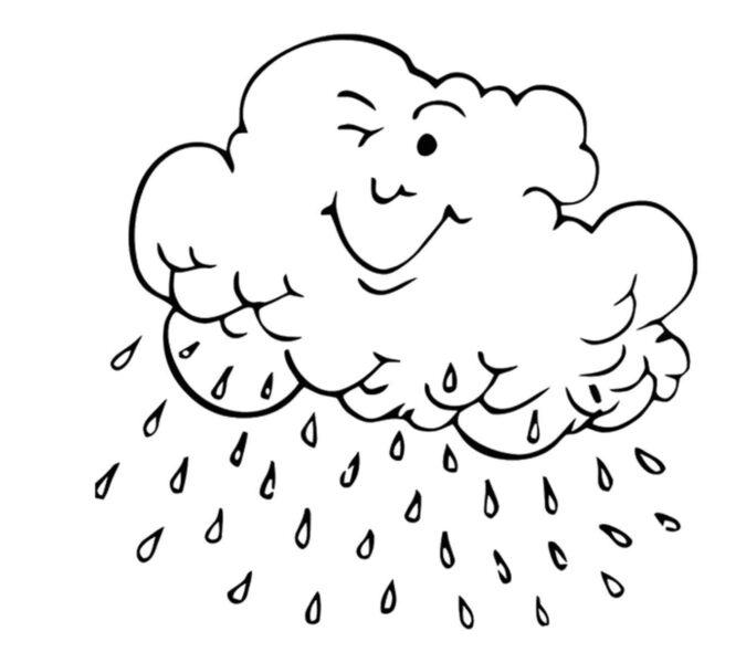 Tranh tô màu trời mưa đẹp nhất cho bé tập tô (31)