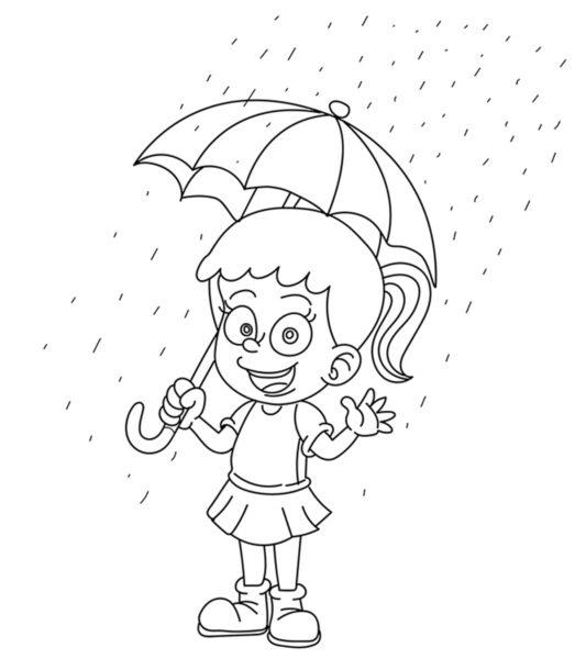 Tranh tô màu trời mưa đẹp nhất cho bé tập tô (33)
