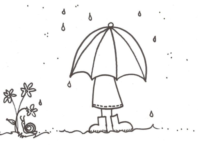 Tranh tô màu trời mưa đẹp nhất cho bé tập tô (35)