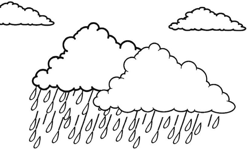 Tranh tô màu trời mưa đẹp nhất cho bé tập tô (36)