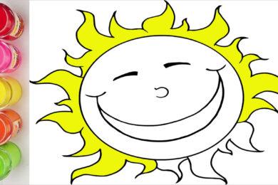 Tranh tô màu trời nắng đẹp nhất