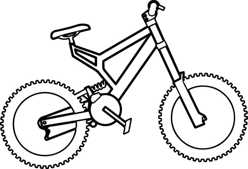 Tranh tô màu xe đạp cho bé tập tô (45)
